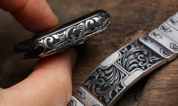 Apple Watch с ручной гравировкой - образец 3