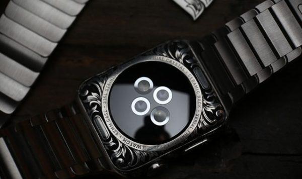 Apple Watch с ручной гравировкой - образец 5
