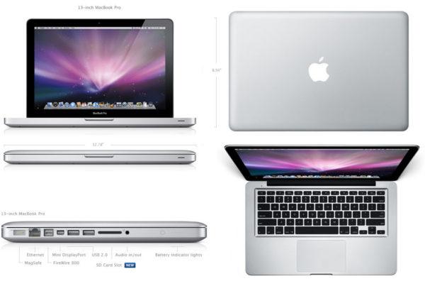 Дизайн и габариты MacBook Pro