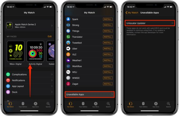 Устаревшие приложения на Apple Watch