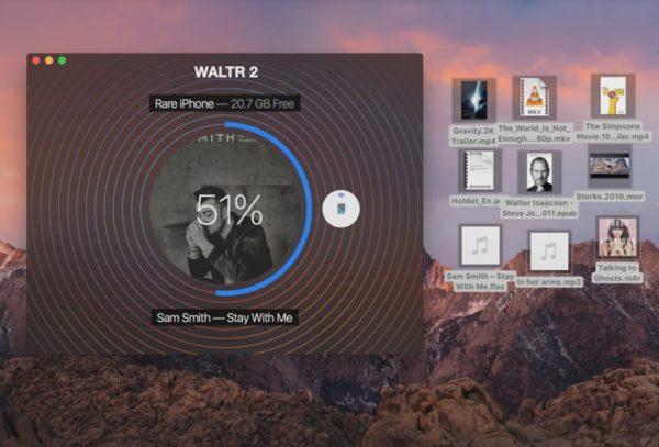 Загрузка музыки на iPhone через Waltr