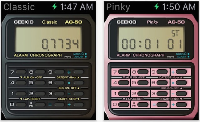 Apple Watch как старинные часы-калькулятор Casio