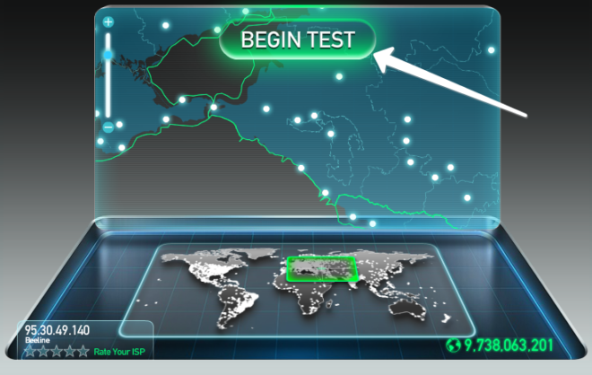 Проверка скорости интернет-соединения на Mac