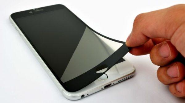 Dark Screen Protector on iPhone