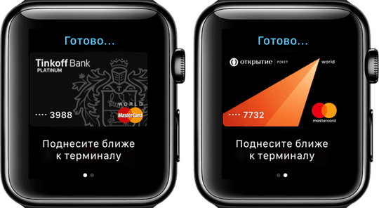 Apple Pay в iWatch
