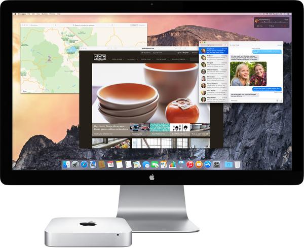 Mac mini и монитор от Apple