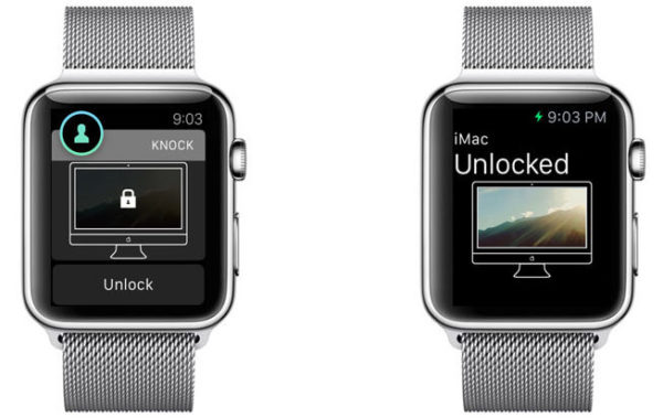 Разблокировка Mac через Apple Watch