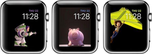 Виды циферблатов «История игрушек» для Apple Watch