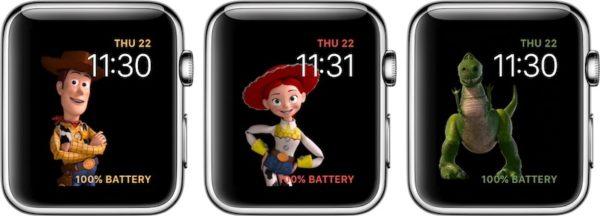 Виды циферблатов «История игрушек» в WatchOS 4