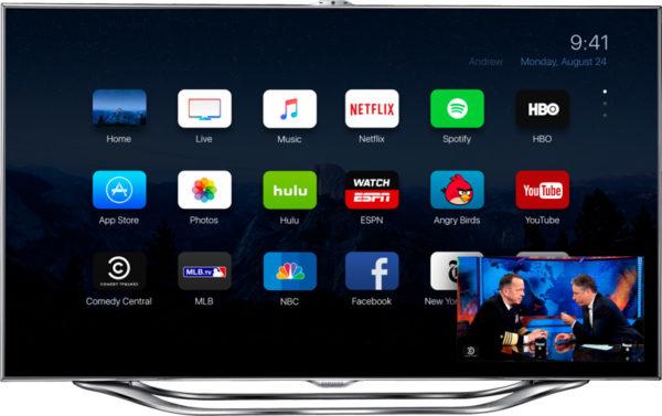 Интерфейс Apple TV 4 поколения