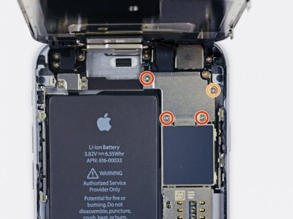 Замена аккумулятора в iPhone - шаг 8