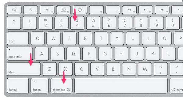 Сочетание клавиш для съемки участка экрана в MacOS