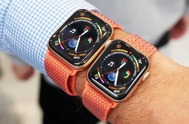 Apple Watch с дисплеем 40 и 44 мм