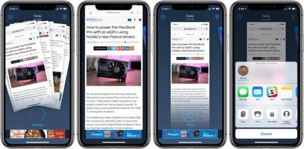 Объединение скриншотов в приложении Tailor