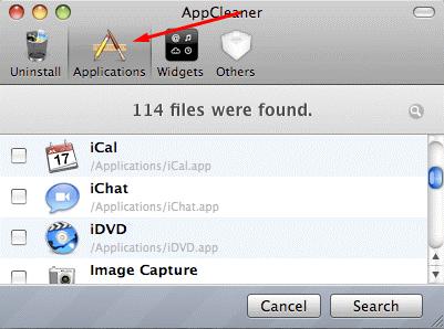 Удаление программы на MacOS через App Cleaner - шаг 1