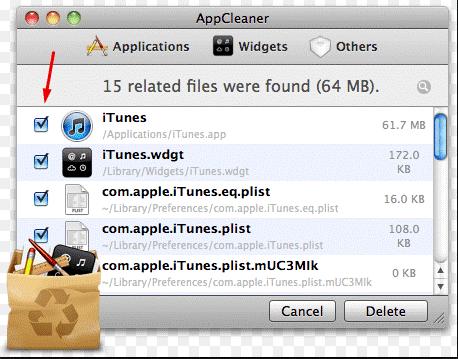 Удаление программы на MacOS через App Cleaner - шаг 3