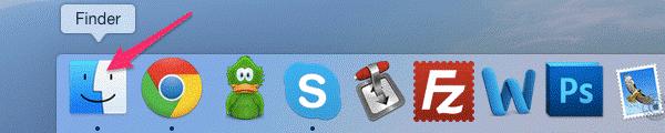 Удаление программы на MacOS через FINDER - шаг 1