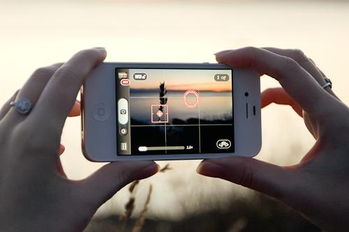 Сетка для настройки экспозиции в приложении «Фото»