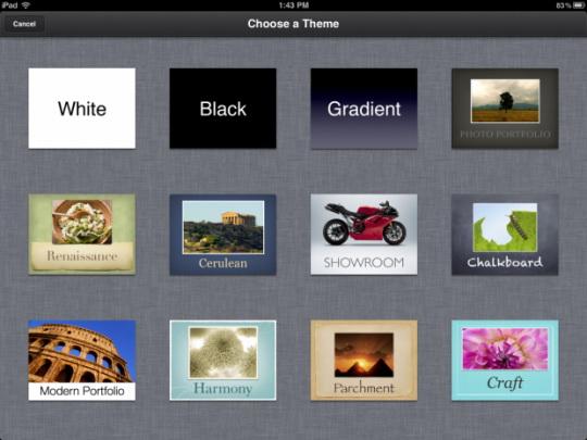 Главный экран Keynote Apple
