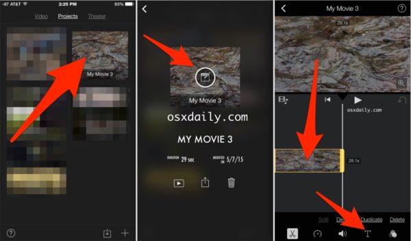Наложение текста поверх видео в iPhone
