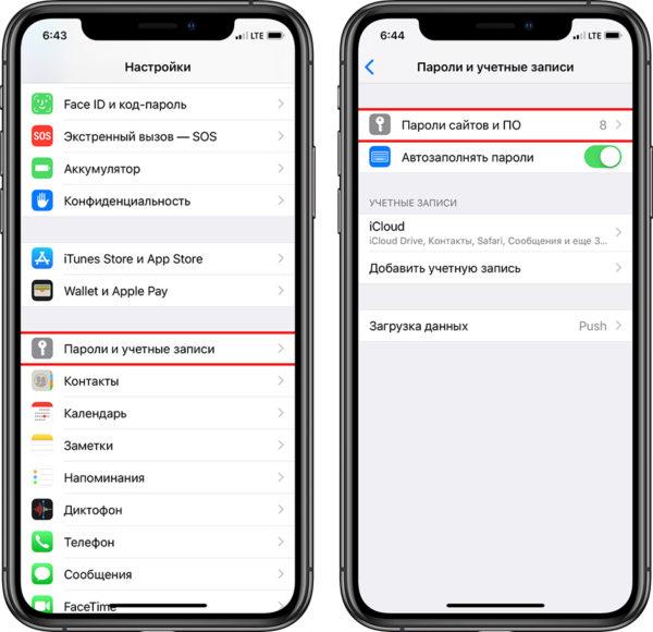 Просмотр паролей в связке ключей в iOS - шаг 1