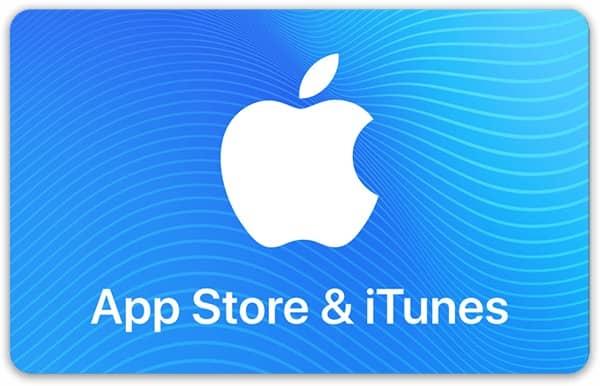 Подарочная карта для App Store и iTunes Store