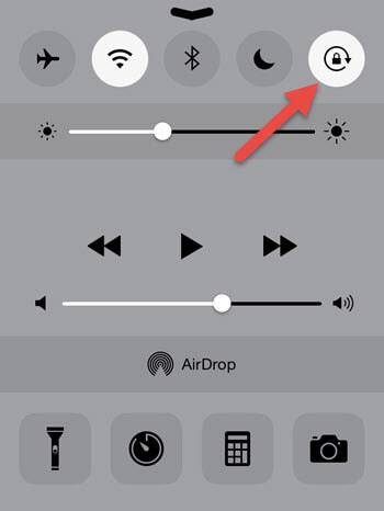 Отключение блокировки ориентации в iPhone