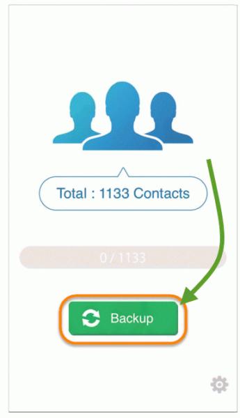 Перенос контактов с iPhone на Android через My Contacts Backup - шаг 1