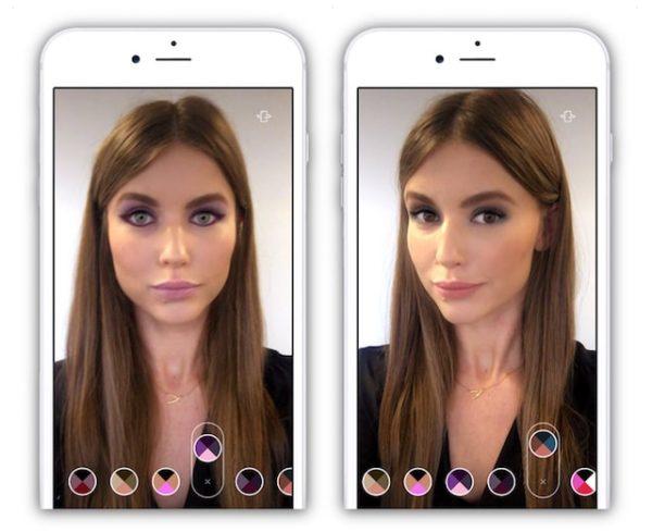 Подбор макияжа с помощью ModiFace для iPhone