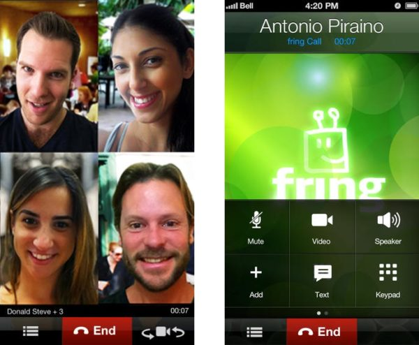 Видеозвонок через Fring на iOS