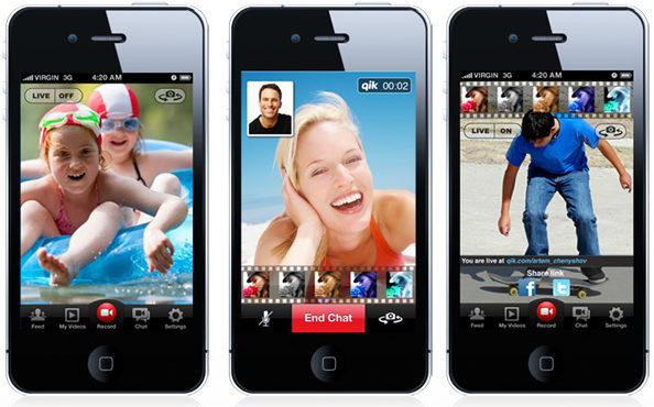 Видеозвонок через Qik Live на iOS