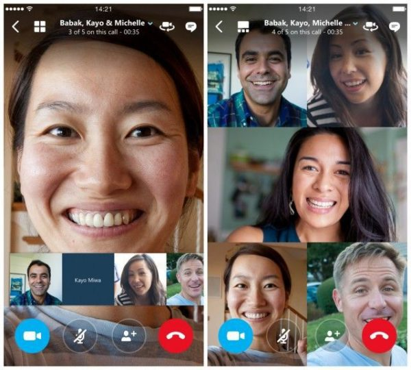 Видеозвонок через Skype на iOS