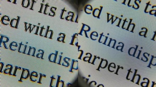 Разрешение в iPhone с дисплеями 3Gs и Retina