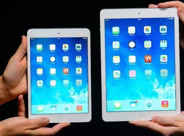 Размеры iPad Air и iPad mini 2