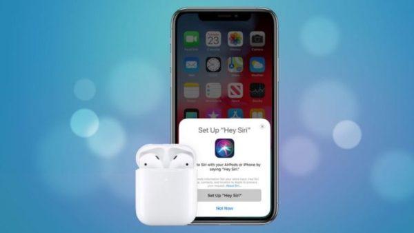 Опция «Hello, Siri» в AirPods 2