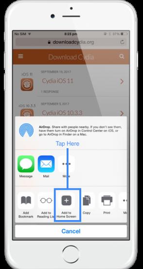 Установка Cydia на iPhone и iPad - шаг 4