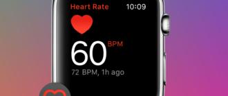 Опция «Повышенный пульс» на Apple Watch