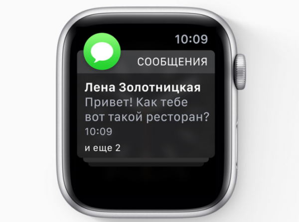 Уведомления в WatchOS 5