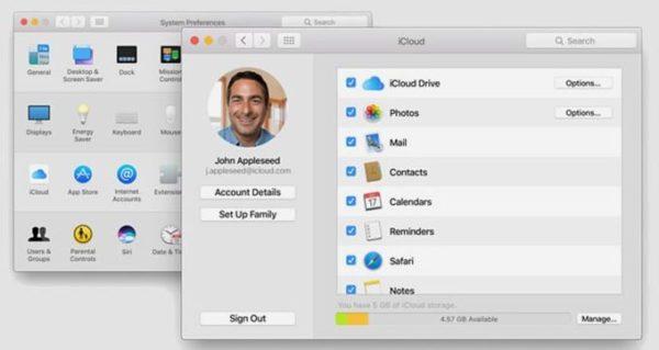Выход из iCloud на MacBook Pro