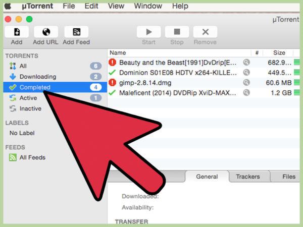 Скачивание файлов на MacBook с помощью uTorrent