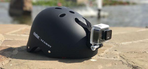 Крепление экшн-камеры к шлему с помощью ремешка