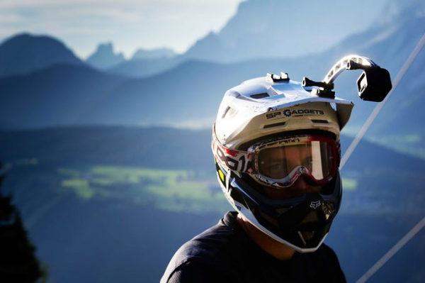 Удлинитель для крепления экшн-камеры на шлем