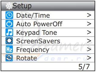 Screen Savers в настройках экшн-камеры SJ4000