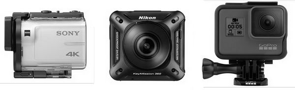 Экшн-камеры Sony, Nikon и GoPro