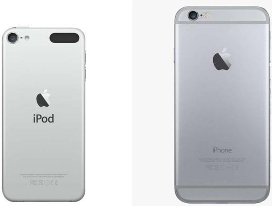 Внешние отличия между iPhone и iPod Touch