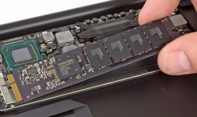 SSD в MacBook Air