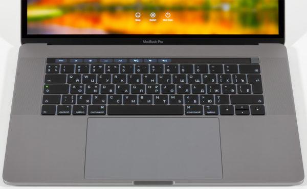 Клавиатура в MacBook Pro