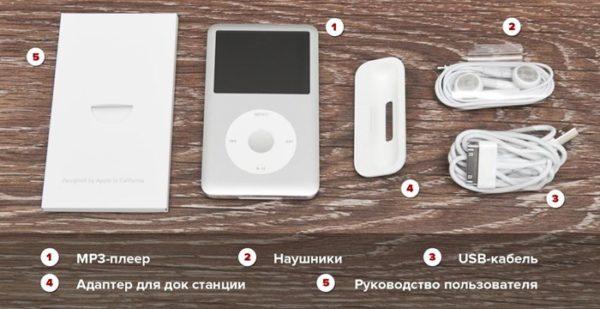 Комплектация iPod Classic