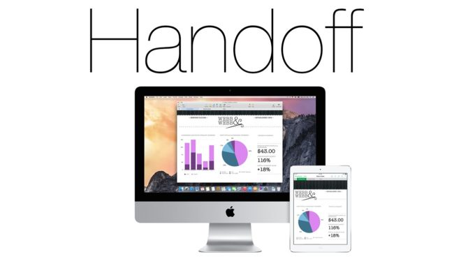 Handoff для MacOS и iOS
