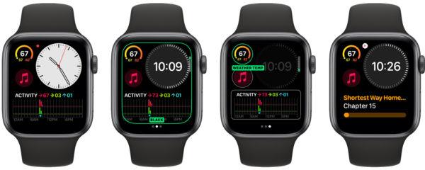 Циферблат «Компактный» в WatchOS 6
